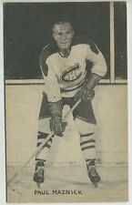 1948-52 Exhibit Hockey Card Paul Maznick Montreal Canadiens
