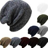 Unisex Men Women Knitted Ski Beanie Cap Winter Warm Baggy Slouchy Skull Hat Gift