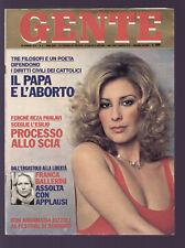 GENTE 3/1979 MARINELLA BULZAMINI PESCERELLI FANIGLIULO BAUCE LUDMILLA TCHERINA