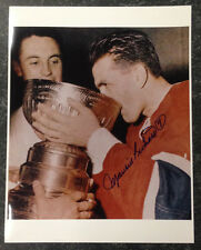 MAURICE RICHARD Signed Montreal Canadiens 11 x 14 Photo Drinking From the Cup