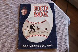 1963 Boston Red Sox MLB baseball yearbook