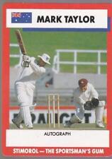 1990 Stimorol Cricket Card -  Mark Taylor