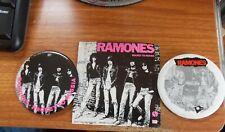 Ramones Sire records Pinback Buttons & Sticker