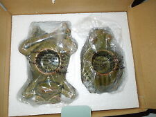 Nib PartyLite 2pc. Set Frogs Ceramic Tealight Candle Holders