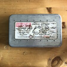Vintage Perrine #97 Fly Fishing Fly Box Holder with Flies Nymphs