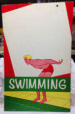 Vintage 1954 Educational Poster SWIMMING #117 The Program Aids Co GYM Athletics