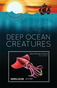 Sierra Leone - Deep Ocean Creatures Stamp -S/S MNH