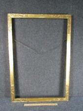 "ANTIQUE unsigned THULIN HAND CARVED GILT PAINTING FRAME, FITS 30X20"" INCHES"
