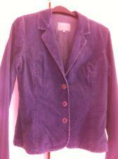 Jigsaw Jacket Size 12 Velvet Corduroy Blue