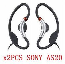 2PCS Orginal Sony MDR-AS20 Earphone AS20J Sport Clip on Ear Headphone for iphone