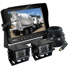 "9"" REAR VIEW REVERSING CAMERA KIT SYSTEM CCTV FOR TRACTOR, EXCAVATOR, TRUCK, RV"