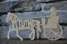 Driving Pony Cart Horse Wooden Tack Room Puzzle Toy New Figurine