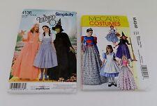 McCalls Simplicity Costume Patterns Wizard of Oz Witch Renaissance Queen Sz 6-XL
