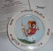 1984 June Sarah Stilwell Weber Calendar Collection Collector Plate