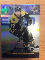 UD TIM HORTONS 2020-2021 PATRICE BERGERON HOCKEY CARD #75 BOSTON BRUINS