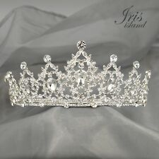 Gorgeous Clear Austrian Crystal Rhinestone Tiara Crown Bridal Party Pageant 5437