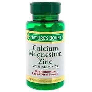 Natures Bounty Calcium Magnesium Zinc with Vit D3 100 Coated Caps