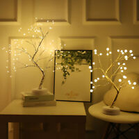 LED USB Fire Tree Light Copper Wire Table Lamps Night light Christmas Decorati*^