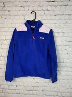 Vineyard Vines Fleece Jacket Women's Size S Pullover 1/2 Zip Blue