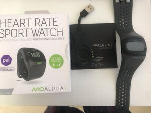 Mio Global ALPHA 2 Heart Rate Sport Watch Monitor- Torn Bracelet-no Faceplate