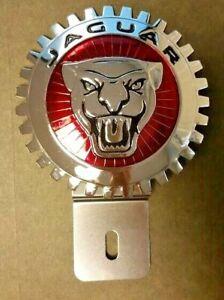 NEW Jaguar Emblem License Plate Topper- Chromed Brass- Great Gift Item!