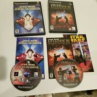 PS2 lot of 2 Star Wars Jedi Starfighter & Episode 3 Revenge of the Sith Complete