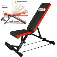 Flat Incline Adjustable Weight Bench Home Press Fitness Workout Equipment 660Lbs
