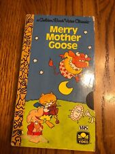 A Golden Book Video Classic Merry Mother Goose VHS Ships N 24h