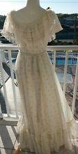 vtg 70s Gunne Sax Victorian jessica Dress Corset Lace Festival Boho Hippie 11