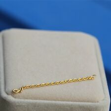 Authentic 999 Pure 24K Yellow Gold Rope Design Extend / Chain Extension 50MML