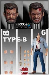 NT-TY-B: Nota Studio 1/12 Logan Wolverine Action Figure - Bloody Type B