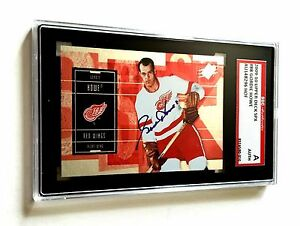 GORDIE HOWE SIGNED 2009/10 UPPER DECK SPX CARD #88 SGC AUTHENTICATED