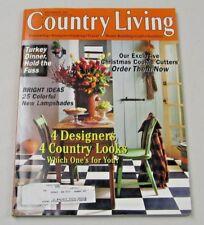Country Living Magazine November 1997 4 Designers, 4 Looks