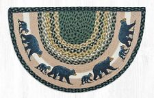 "COUNTRY PRINTED SLICE BRAIDED JUTE AREA RUG 18""X29"" By EARTH RUGS--BEARS"