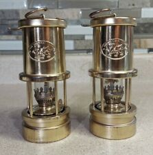 "Pair - Vintage Sir William Johns Dragon Mini 7"" Tall Kerosene Oil Lantern / Lamp"