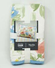 Martha Stewart Collection Savannah Rose Reversible Cotton Pillow Sham - STANDARD