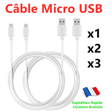 Chargeur Micro USB Câble 1M 2M 3M pour Samsung,Huawei,Appareils Android, Sony
