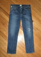 CITIZENS Of Humanity CARA High Rise Cigarette Ankle Jeans Ankara W/Leg Hole 28