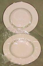 """Lenox Springdale Platinum set of 2 Rimmed soup bowls 8.25"""""""