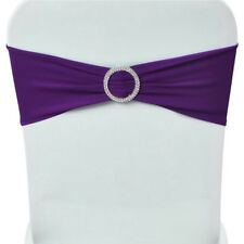 Spandex Stretch 500X Chair Cover Sash Bow Wedding w/ Buckle Slider Sashes Sale!