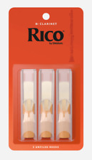 Rico Bb Clarinet Reeds - 3-pack - Ideal For Intermediate/Advanced. Strength: 3.0
