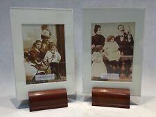 2 vintage design wooden Picture frame cadre photo bilderrahmen fotolijst design