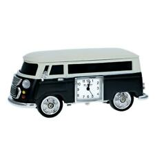 Miniature Black Camper Van - Caravan Novelty Desktop Collectors Clock 9710B