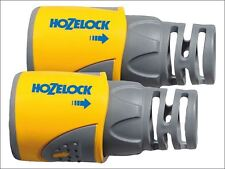 Hozelock - Hose End Connector for 12.5-15 mm (1/2 in & 5/8 in) Hose Twin Pack