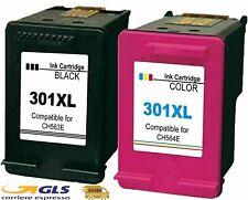 Kit 2 Cartucce Per HP 301 XL NERO E COLORE Compatibili Envy4500 5530 ALTA RESA