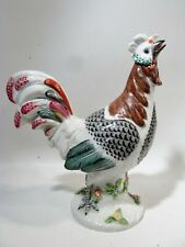"""Old Chinese Porcelain Figurine Famille Rose 10"""" Rooster"""