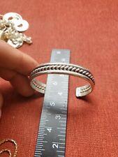 Vintage Navajo Singed V. Nez Sterling Silver Bracelet 32 grams E2