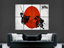 JAPANESE JAPAN SAMURAI WARRIORS  HUGE LARGE WALL ART POSTER PICTURE