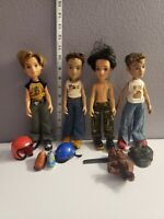 Vintage 2003 Mga Bratz Boyz Lot Of 4 Dolls And Accessories