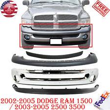 Front Chrome Steel Bumper Kit For 2002 2005 Dodge Ram 1500 2003 2005 2500 3500 Fits 2005 Dodge Ram 1500